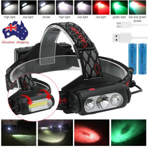 Zoomable USB Infrared Red Smart Sensor Mini LED Headlamp White XP-G2 Headlights