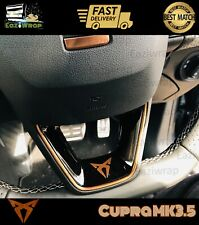 Eaziwrap Seat Leon Cupra MK3.5 Steering Wheel Vinyl & Pinstripe Decal COPPER