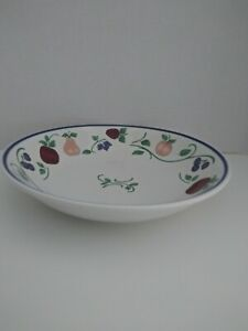 "Princess House Orchard Medley Coupe Soup Bowl 8 3/4"""