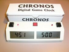 Touch II Chronos Clock Chess White --Chronos Chess Clock - Best clock ever!