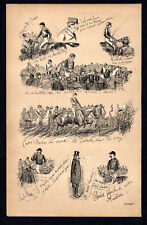 FLOWERS PLUCKED AT AINTREE 1883 Finch Mason Horses LITHOGRAPH