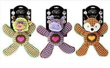 3 x Dog Toy Plush Squeak Crinkle Animal Play Pet Fox Smart Choice Accessories