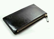 Leather Black Men Wallet Clutch Money Clip with 15 cards Bits Zipper