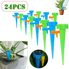 24x Garden Plant Self Watering Spike Adjustable Automatic Drip Irrigation System
