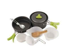 Outdoor Camping Pot Pan Bowl Cookware 8-pc Kit, Cooking Survival Kit For Camping