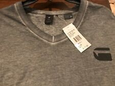 NWT $45.00 G Star RAW Men's Short Sleeve V Neck T Shirt XXL Gray