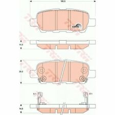 TRW Brake Pad Set, disc brake COTEC GDB3507