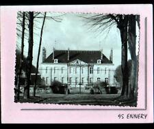 ENNERY (95) CHATEAU , RESIDENCE MUTUALISTE avec grille en fer forgé en 1970
