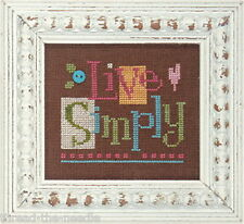 Lizzie Kate Quick-It Live Simply Counted Cross Stitch Chart  Pattern with Button