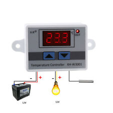 Temperature Controller 10A Thermostat Control Switch Probe 12V 120W Digital LED