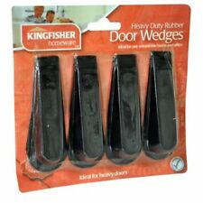 Kingfisher Rubber Door Stop Wedges, Black, Pack of 4 by Kingfisher