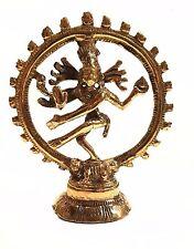 4 Inchs Hindu Deity Dancing Shiva Natraj Cosmic Energy Sculpture Solid Brass