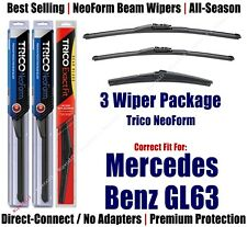 3pk Wipers NeoForm 2013-16 Mercedes-Benz GL63 GL350 GL450 GL550 162515/2213/12J