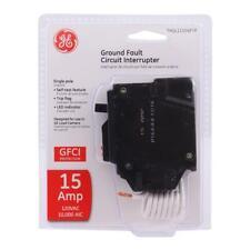 GE 15 Amp Single Pole Ground Fault Breaker THQL1115GFTP