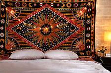 Sun Moon Indian Mandala Wall Hanging Bedding Mandala Celestial Tapestry Throw
