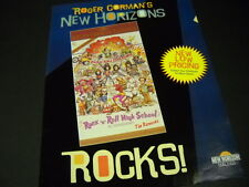 RAMONES in Roger Corman's ROCK N ROLL HIGH SCHOOL Promo Poster Ad mint condition
