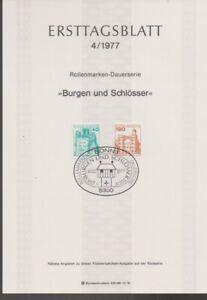 Ersttagsblatt 4/1977 Burgen und Schlösser