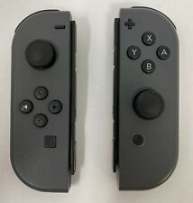 Genuine Nintendo Joy-Con (L/R) Controllers -Gray for Nintendo Switch (VG)