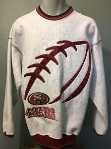 Vtg 90s SF San Francisco 49ers Sweatshirt Mens L Montana Rice NFL Football Shirt