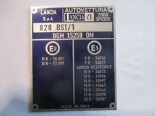 Nameplate Lancia Id-Plate Shield beta 2000 Spider Zagato 828 BS1/1 s50