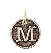 Benny and Ezra Monogrammed Pendant Antique Gold - M