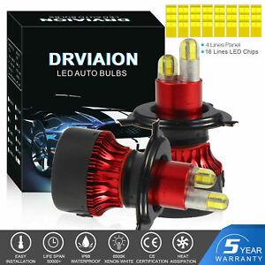 H4 Hi/Lo 200W 30000LM 6000K Lampade A LED Da Auto Fari Lampadine Xeno Bianca HID
