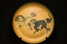 Large Japanese Vintgage Lacquer Tray - 15 Inches wide - Foo Dogs - 🐘