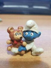 PUFFO BABY PUFFO CON ORSETTO - PUFFO BABY WITH TEDDY - PUFFI - PEYO - SMURF