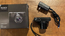 Sony Cyber-shot DSC-RX100 20.2 MP Digital Camera + box, SD card, charger & case
