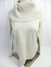 Nautica Women's Turtleneck Sweater Oatmeal Heather US Size M NWT