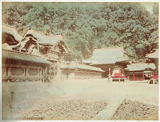 Tosho Gu Shrine, Nikko, Japan.  1880s Hand Coloured Albumen Photograph.