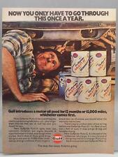 Vintage Magazine Ad Print Design Advertising Gulf Pride Motor Oil