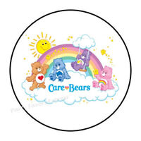 "48 CARE BEAR CHEER BEAR ENVELOPE SEALS LABELS STICKERS 1.2/"" ROUND"