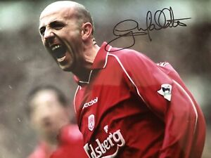 Gary Mcallister Signed Liverpool 12x8 Photo Full Signature