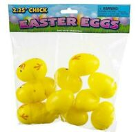 "( 12 Piece ) 2.25"" CHICK PLASTIC EASTER EGGS"