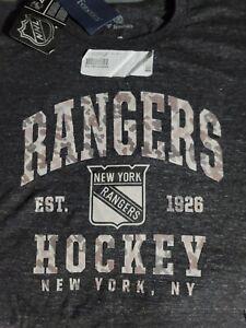 NHL New York Rangers Camo Stack Fanatics Official Men's Graphic Tee Shirt. NWT