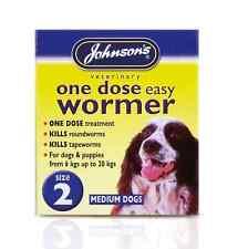 Johnsons Veternary One Dose Easy Dog Wormer Size 2 - 6kg to 20kg 5000476020521