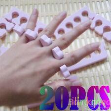 20 Soft Sponge Foam Finger Toe Separator Spacer Nail Art Pedicure Manicure Tool