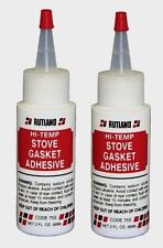 2 New!!! #75S RUTLAND Stove Gasket Adhesive Clear 2 oz. Silicate Clear