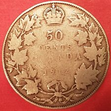 1912 Silver  Canadian 50 Cent Coin  ID #94-2