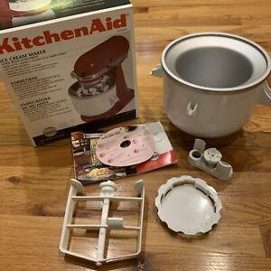 KitchenAid KICA0WH Ice Cream Maker Attachement For Stand Mixer 2 Quart Pre-ownn