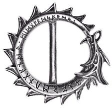 "Jormungand Ouroboros Snake Pewter Belt Buckle 1.5"" Ouroboros Alchemy Gothic B102"
