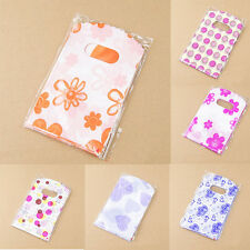100 Pcs Wholesale Lot Pretty Mixed Pattern Plastic Gift Bag Shopping Bags