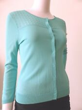 DAVID LAWRENCE Women's Cardigan 3/4 Length Sleeve Snap Button Size XS - Small