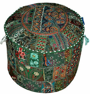 Indian Handmade Patchwork Sitzkissen Cover Comfortable Cotton Stool Cover