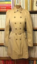 ZARA beige double breasted trench coat jacket M UK 10-12 / US 6-8 puff sleeves
