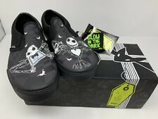 NEW VANS X Classic Slip On Glow Jack Nightmare Before Christmas Kids 6 Women 7.5