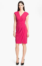 Lafayette 148  Elsa Astute Crepe Dress Petun SIZE 14 NEW $498