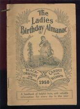 THE LADIES BIRTHDAY ALMANAC 1950 VINTAGE MEDICINAL ADVERTISING