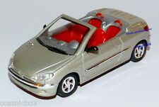 SOLIDO petite voiture PEUGEOT 206 coeur coupé cabriolet grise de 1999 miniature